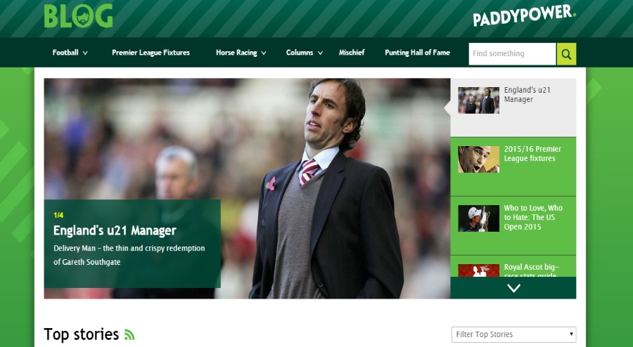 Sport news at Paddy power